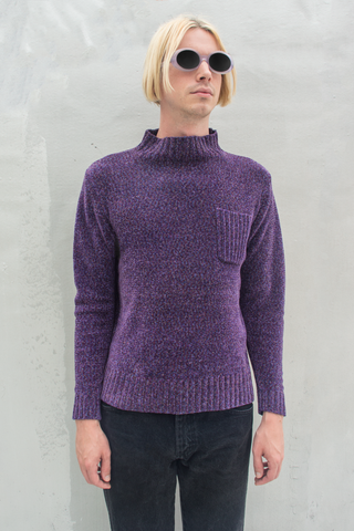 vintage purple mock neck sweater