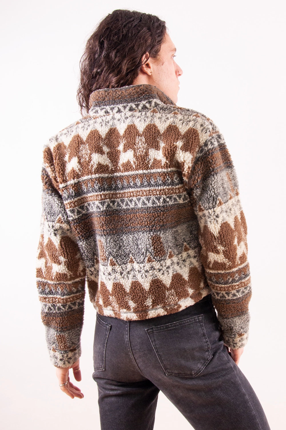 brown vintage fleece