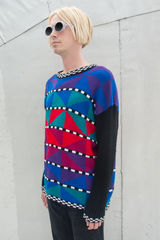 geometric patterned sweater