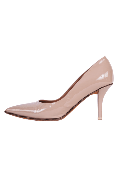 givenchy pumps in patent blush