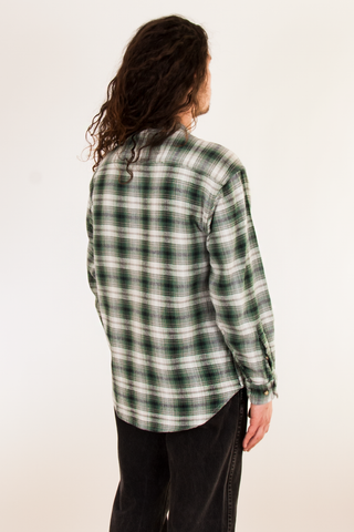 vintage green plaid flannel
