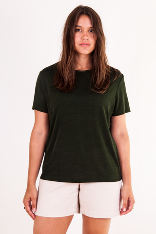 shiny vintage green t-shirt