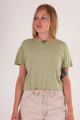 vintage green crop top t-shirt