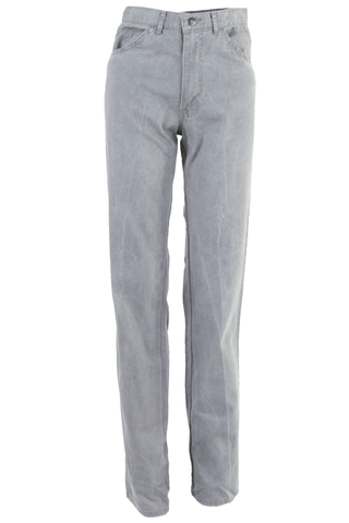grey denim jeans with high-waist