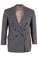 grey double breasted bill blass blazer