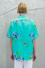 Hawaiian Shirt in Aqua
