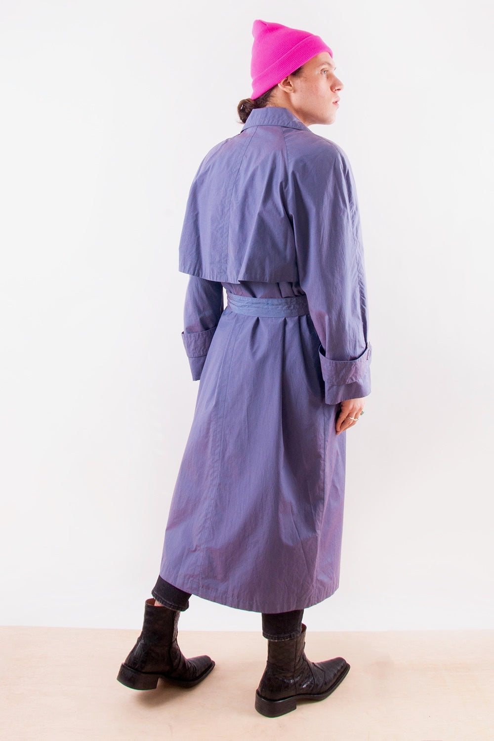Unisex Vintage Iridescent Trench Coat