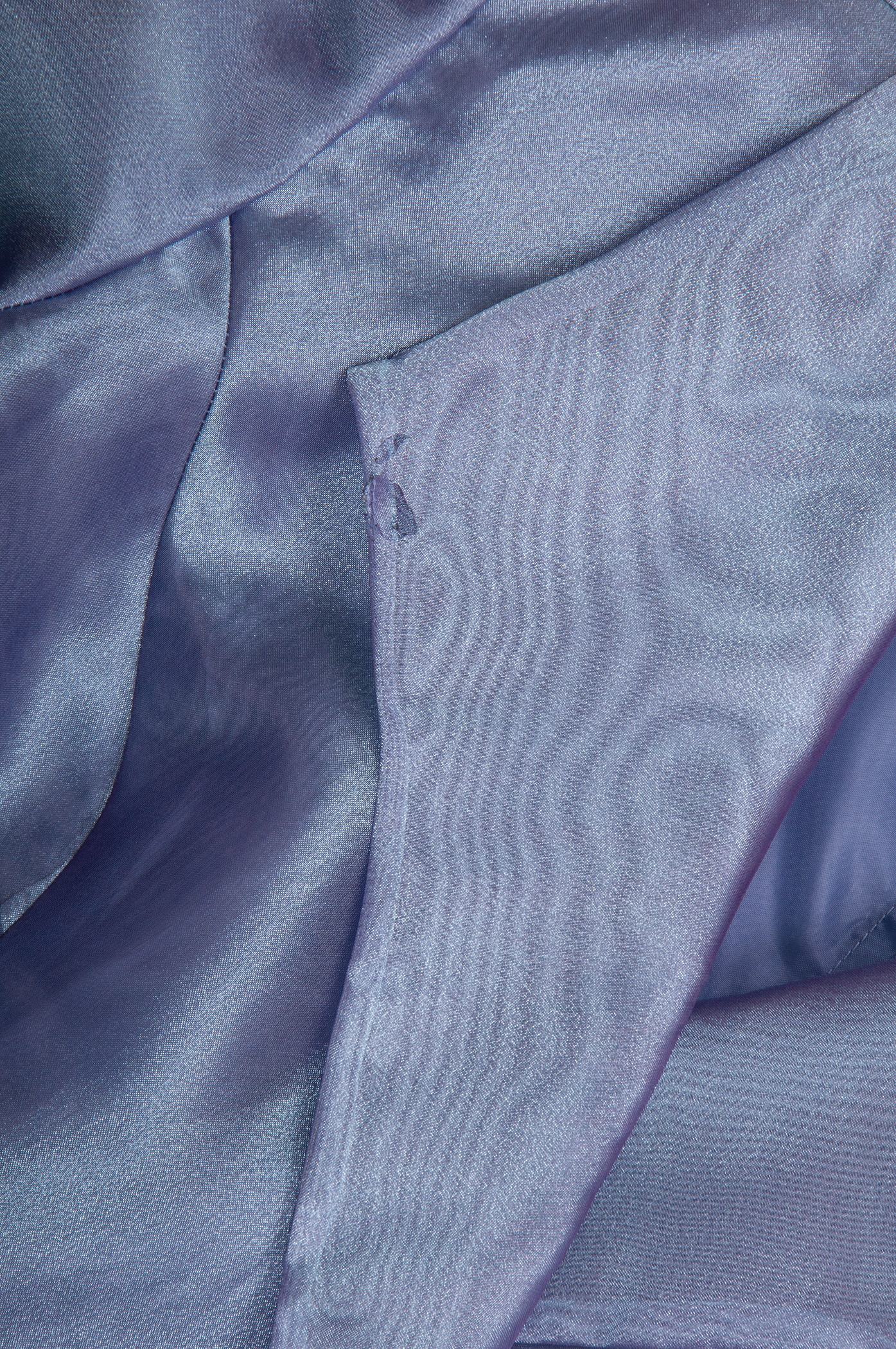 iridescent blue and purple organza top