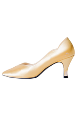 vintage gold satin pumps