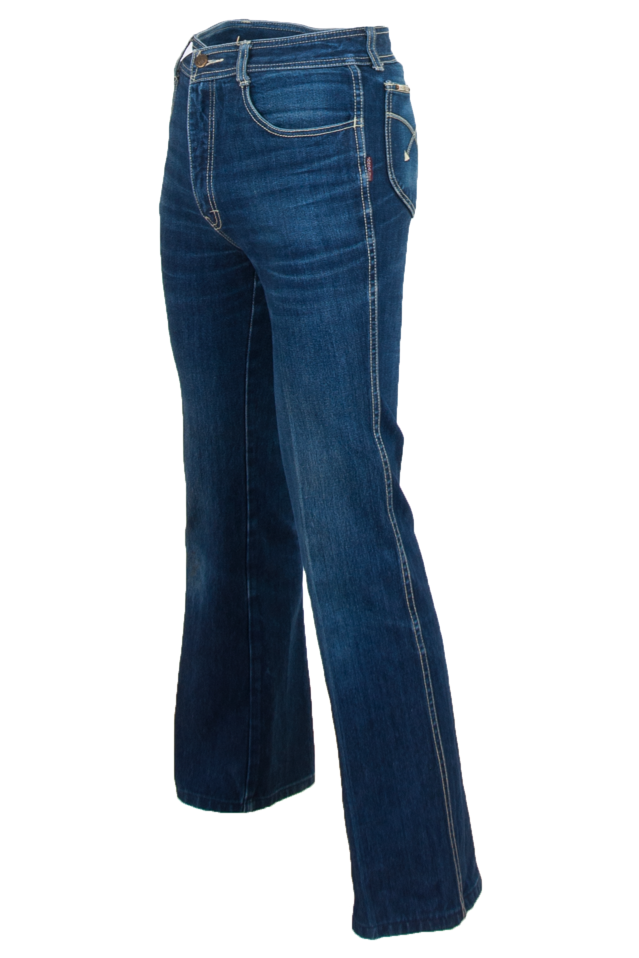 vintage blue jordache jeans with flared leg opening
