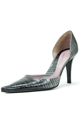 ombre leather embossed high heel shoe
