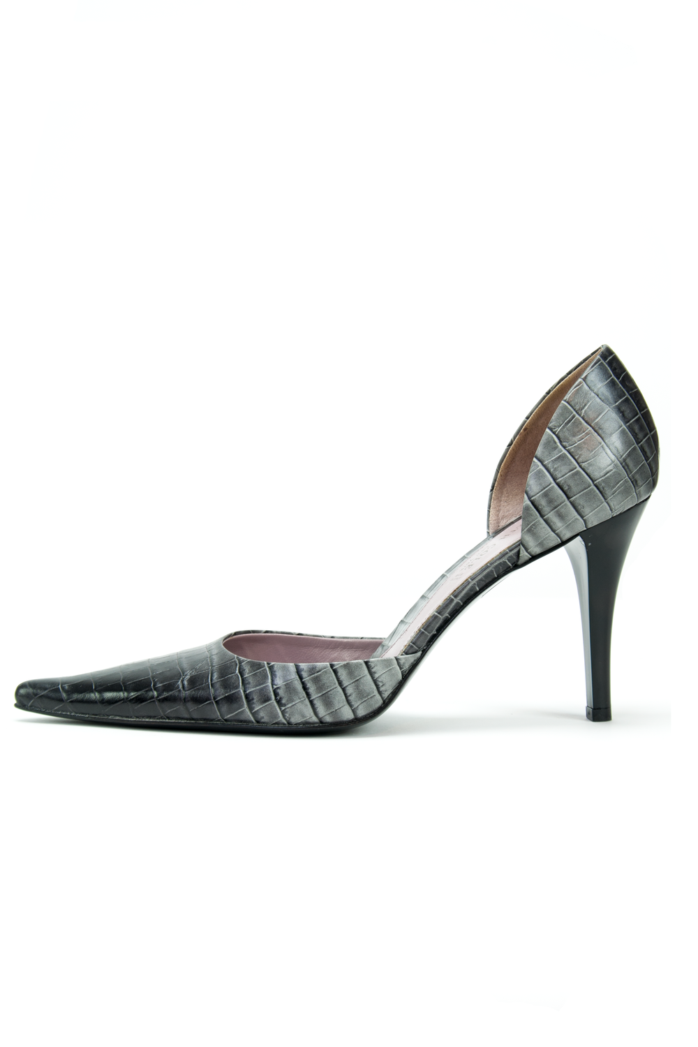 kenneth cole pumps with croc embossed leather
