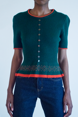 vintage holiday knit top