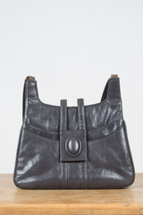 gray leather vintage bag