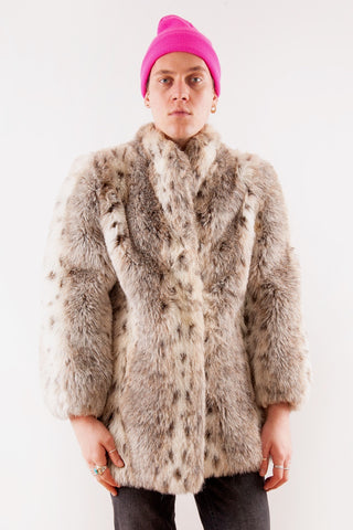 Retro Faux Fur Coat