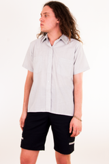 vintage grey short sleeve shirt
