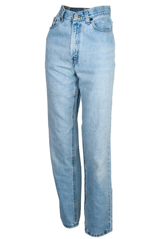 vintage high-rise jeans in blue
