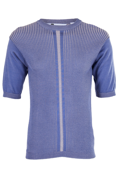 Sheen purple ribbed shirt with stripe
