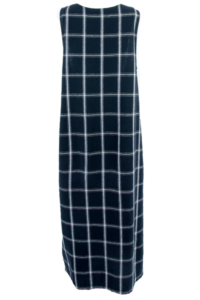 Black and white grid tunic