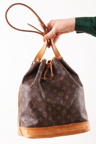 vintage Louis Vuitton monogram bucket bag