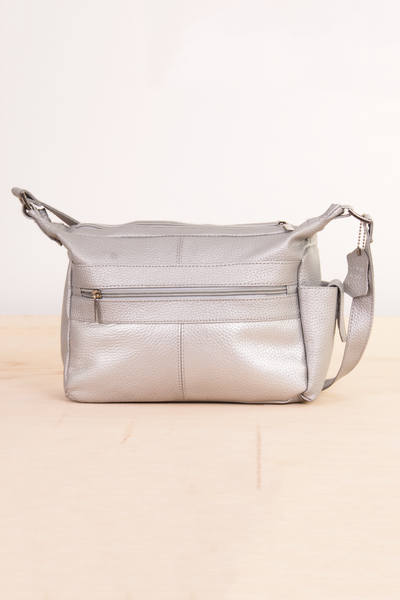 vintage silver leather bag