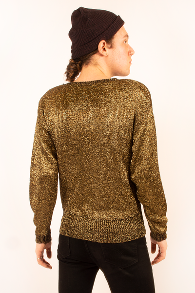 metallic gold sweater from the 80s