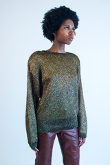 vintage gold metallic sweater