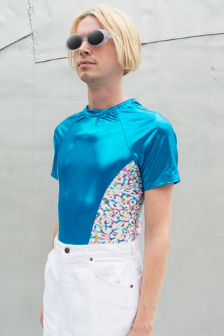 vintage disco t-shirt in blue