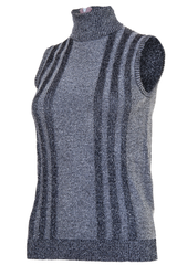 vintage silver turtleneck tank top