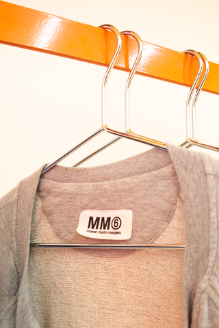MM6 Maison Margiela grey asymmetrical zipped sweater
