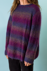 vintage purple ombre mohair sweater