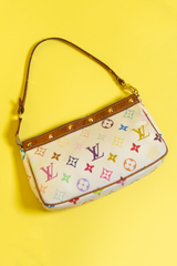 vintage Louis Vuitton multi-color studded pochette