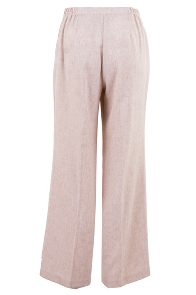 vintage linen blend slacks in off-white