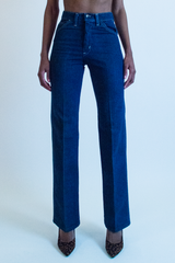 vintage 70's jean in dark wash blue