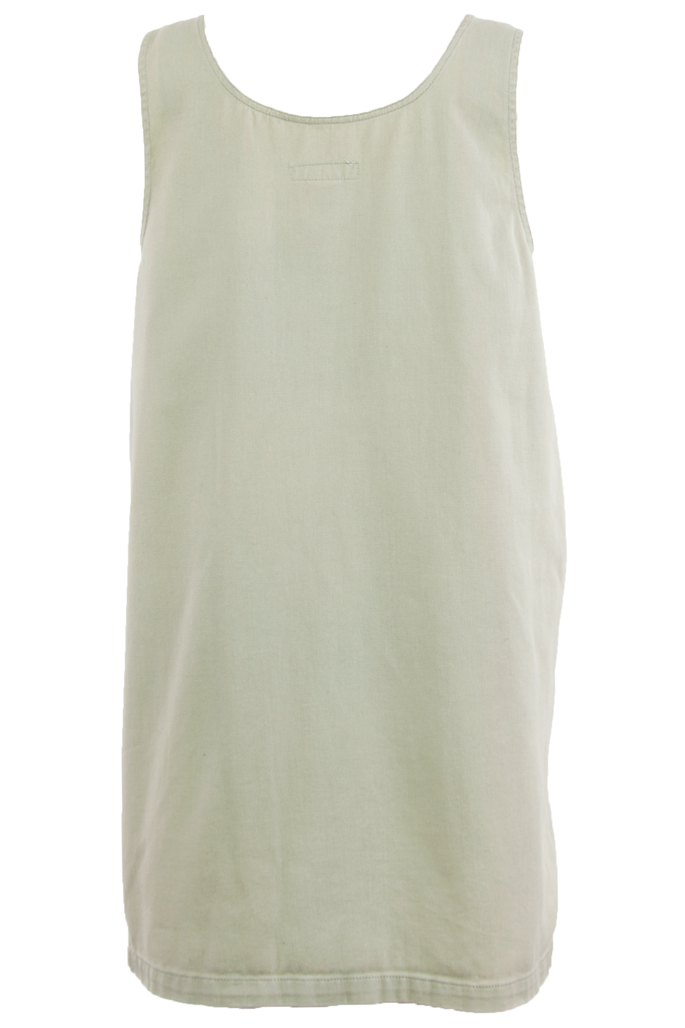 sleeveless dress in olive green