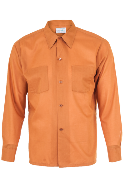 vintage kmart button down shirt in orange