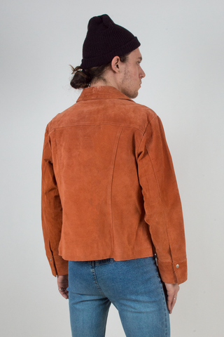 vintage orange suede jacket