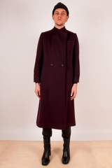 vintage oxblood wool overcoat