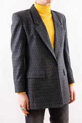 Textured Jacquard Coat