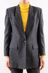 Vintage Textured Jacquard Coat in muli-color