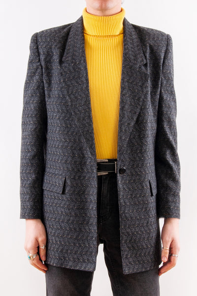 Vintage Textured Jacquard Coat