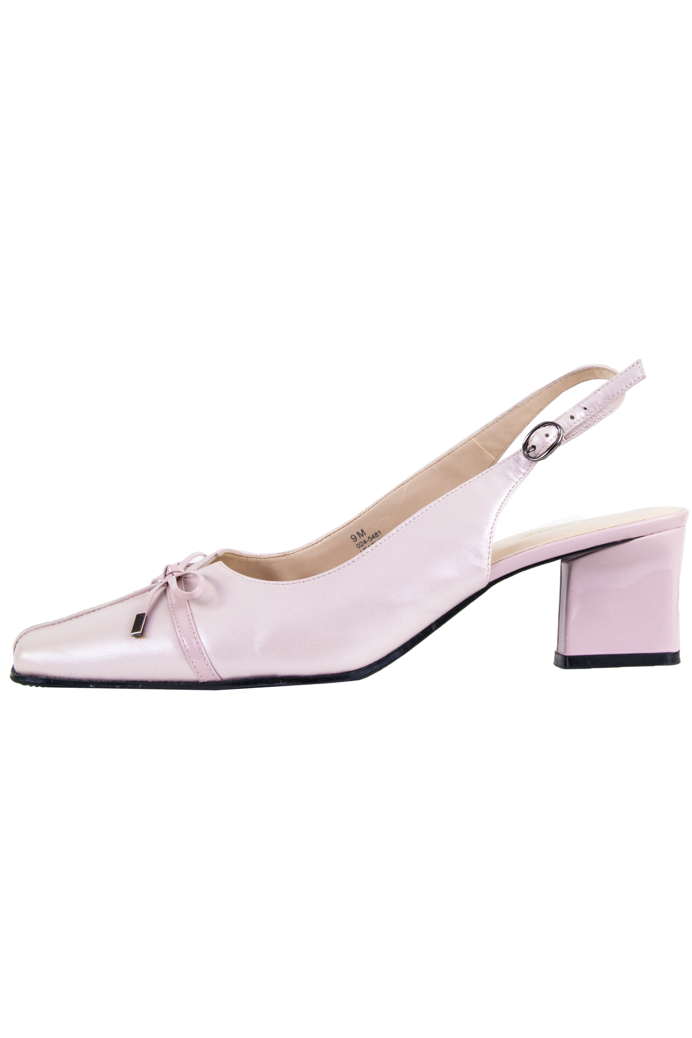 vintage pearly pink slingback mules