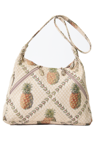pineapple print bag with zip pockets