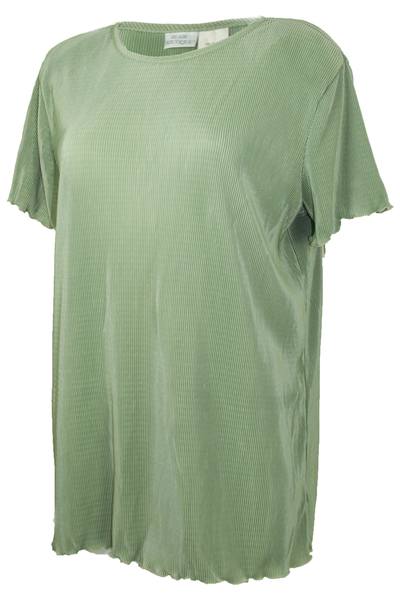 Vintage green tunic top with pleats throughout