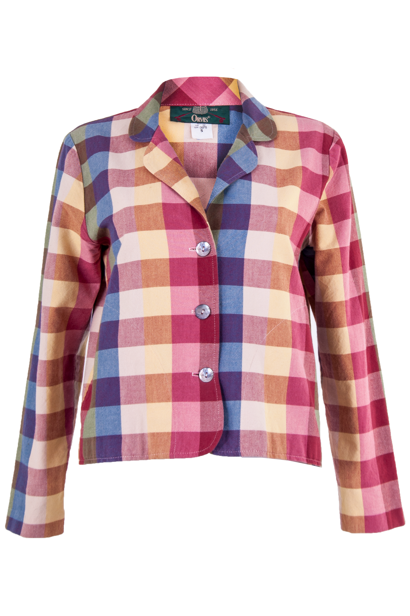 Vintage plaid blazer in multi-color