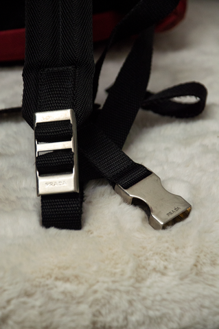 vintage Prada backpack straps in black