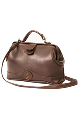 vintage brown leather doctor bag