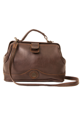 vintage brown leather doctor's bag