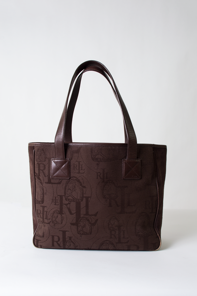 vintage Lauren Ralph Lauren brown tote bag