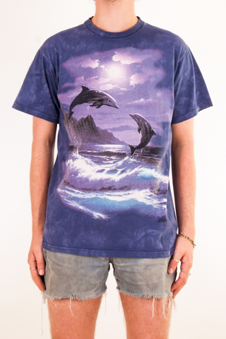 vintage purple dolphin t-shirt